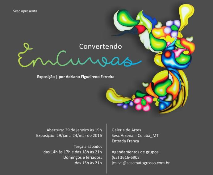 Exposição 'Convertendo em Curvas', do artista plástico Adriano Figueiredo (Foto: Divulgação)