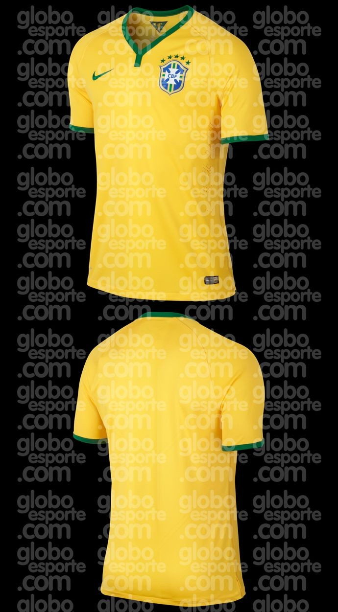 camisa maior Leaked! The Brazil shirts for the 2014 World Cup [Pictures]
