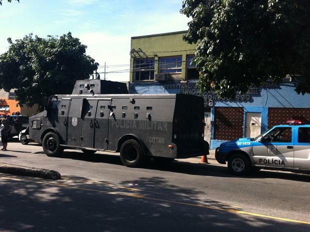 Blindado (Foto: Bernardo Tabak/G1)