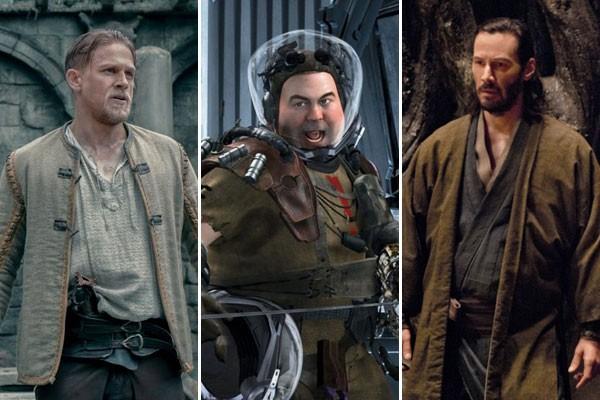 Cenas dos filmes Rei Arthur - A Lenda da Espada, Marte Precisa de Mães e 47 Ronins: grandes prejuízos do cinema (Foto: Reprodução)