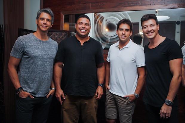 Marcio Garcia, Ronaldo, Rodrigo Branco e Rodrigo Faro (Foto: Leo Mayrink/Brazil News Internacional)