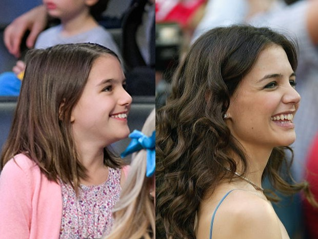 Suri Cruise e Katie Holmes (Foto: Getty Images)