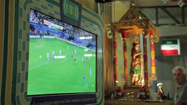 Globo instala TV Digital na tradicional festa de San Vitto, em São Paulo (Foto: Globo)