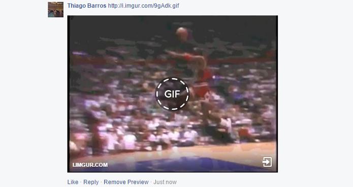 Facebook agora suporta GIFs (Foto: Reprodução/Thiago Barros)
