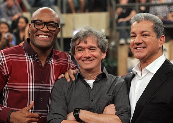 Em 2013, Bruce também esteve no 'Altas Horas', com Anderson Silva (Foto: Gshow)