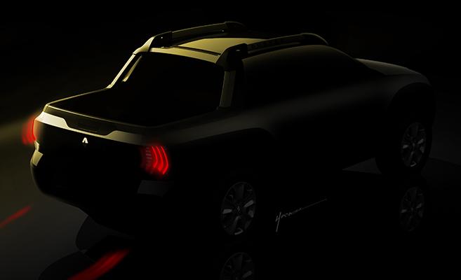 Renault mostra novo teaser da picape feita na plataforma do Duster (Foto: Renault)