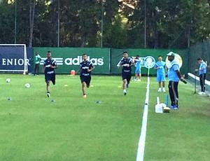 Kelvin, Cleiton Xavier e Luan, Palmeiras (Foto: Rodrigo Faber)