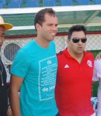 Marcelo lomba, jogo beneficente em Cabo Frio (Foto: Tébaro Schmidt / GloboEsporte.com)
