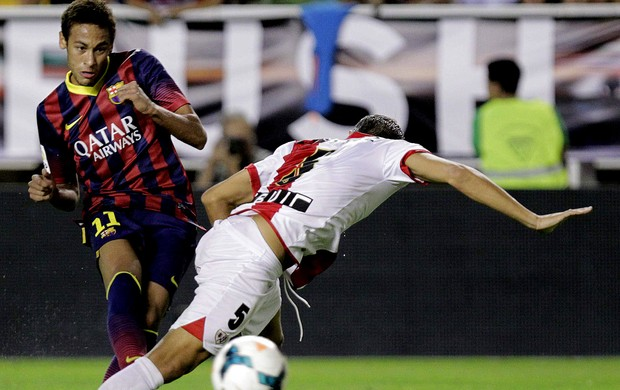 neymar barcelona Rayo Valecano (Foto: Agência EFE)