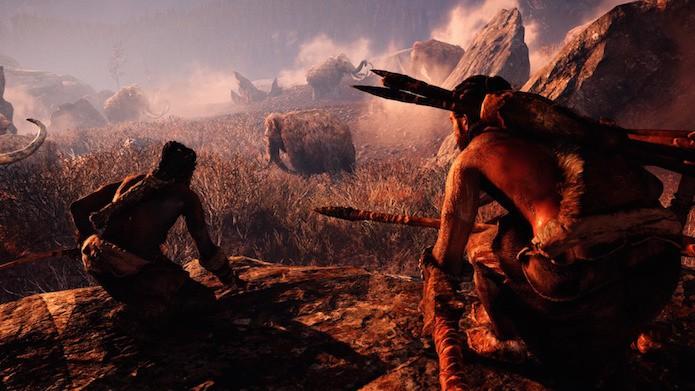 Far Cry Primal: caçar animais e coletar matéria-prima são tarefas essenciais para sobreviver (Foto: Reprodução/Victor Teixeira)
