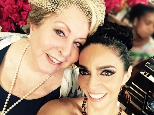 Aracy Balabanian e Claudia Ohana em bastidor de Sol Nascente (Foto: Reprodução/Instagram)