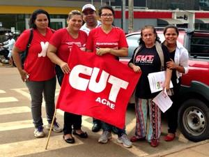 No Acre, CUT adere à movimento nacional (Foto: Caio Fulgêncio/G1)