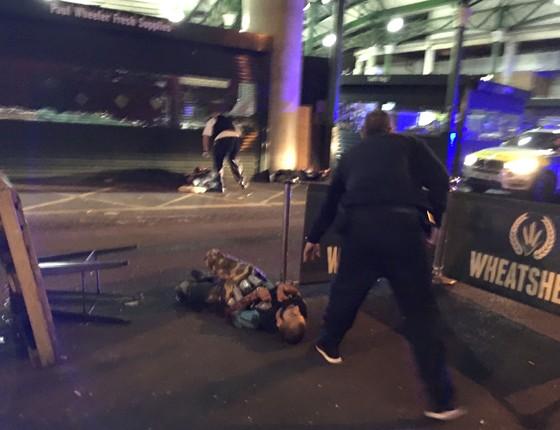 Vítima do ataque terrorista em Londres, em 3 de junho de 2016. (Foto: AFP)