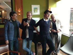 Paulo Betti, José Wilker, Caíke Luna e Hugo Carnava em divulgação (Foto: Lívia Torres / G1)
