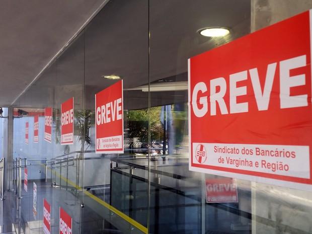 Na regional de Varginha, 30 das 70 cidades integrantes têm bancários em greve, segundo sindicato (Foto: Rafael Rodrigues/G1)