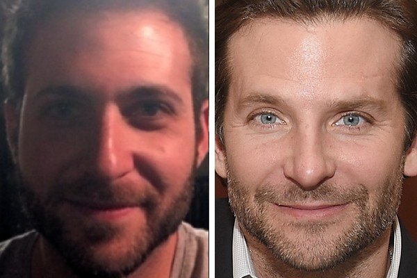 """O usuário """"thebarkingduck"""" é sósia do Bradley Cooper (Foto: Reddit / Getty Images)"""
