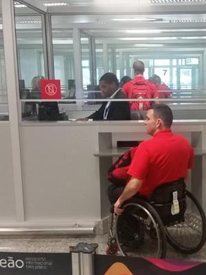 Atleta de rugby em cadeira de rodas  (Foto: Divulgação/RIOgaleão)