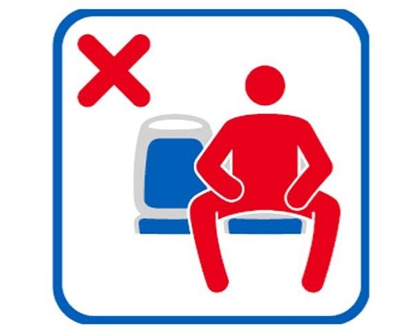 Campanha em Madri pede que homens fechem as pernas nos transportes públicos (Foto: Divulgação)