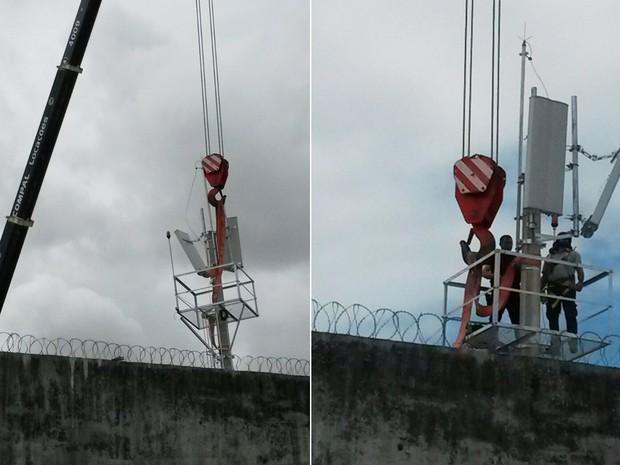 Durante a instalação das torres e dos bloqueadores, foram os próprios presos quem se encarregaram de espalhar a novidade