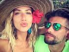 Giovanna Ewbank posa com Bruno Gagliasso em Noronha e se declara