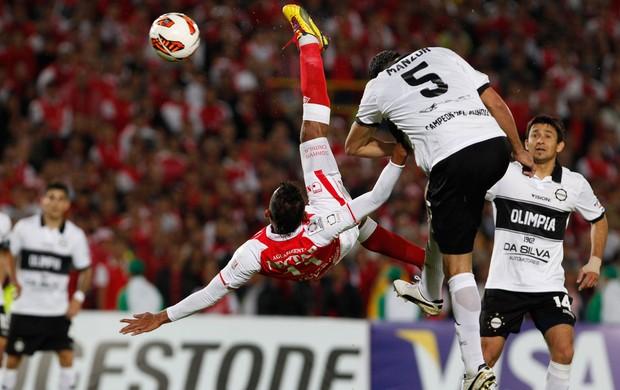 Wilder Medina, Santa Fé x Olimpia (Foto: AP)
