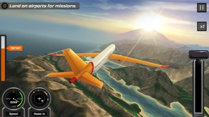 Simulador de voo que qualquer um pode experimentar e brincar (Foto: Divulgação)