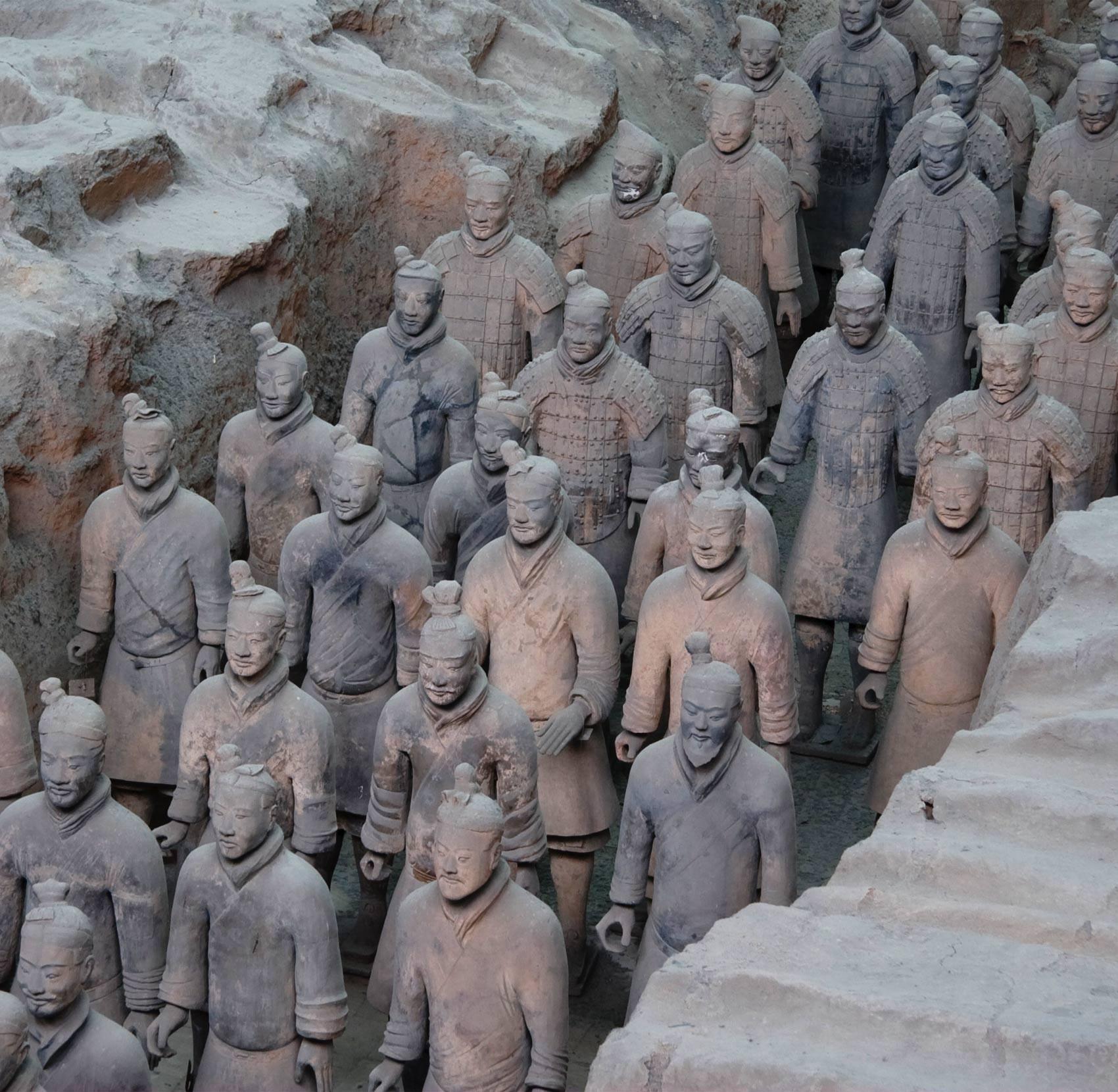 Exército de Terracota em Xian, na China (Foto: Maros M r a z/Wikimedia/Creative Commons)