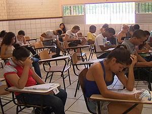 Primeiro dia de provas no vestibular da Uneb em Salvador, Bahia (Foto: Reprodução/ TV Bahia)