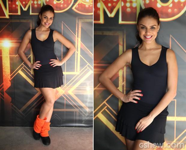Paloma Bernardi vai se dedicar para manter o corpo em forma durante 'Dança 2014' (Foto: Camila Camacho/TV Globo)