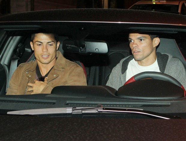 Cristiano ronaldo Pepe real madrid jantar (Foto: Agência Getty Images)