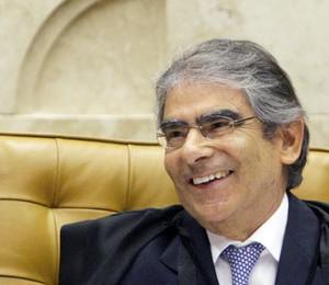 Ministro Ayres Britto preside sessão de julgamento da AP 470 pelo STF (Foto: Fellipe Sampaio /SCO/STF)