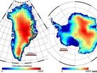 Degelo na Groenlândia e na Antártida dobra em cinco anos, diz estudo