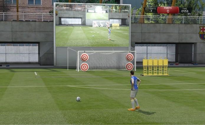 Jogos de Habilidade de Fifa 15 também sofrem com a falta de melhorias (Foto: Reprodução / Diego Borges)