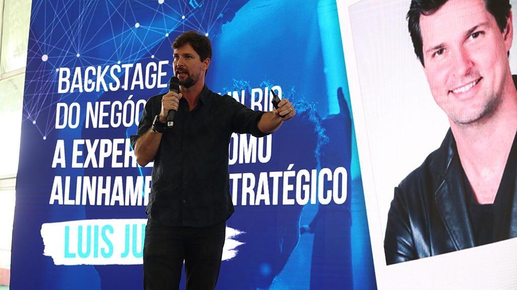 O CEO do Rock in Rio, Luis Justo, durante o Rock in Rio Academy by HSM (Foto: Airo Munhoz / G.LAB)