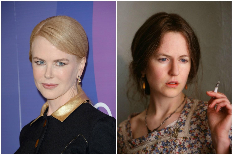 Nicole Kidman como a escritora Virginia Woolf (1882-1941) em 'As Horas' (2002). (Foto: Getty Images e Reprodução)