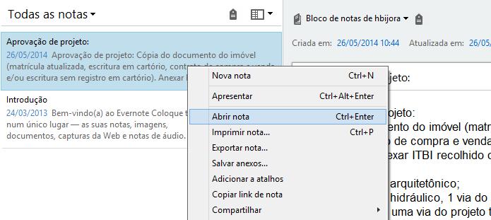 Abra a nota no editor do Evernote (Foto: Reprodução/Helito Bijora)