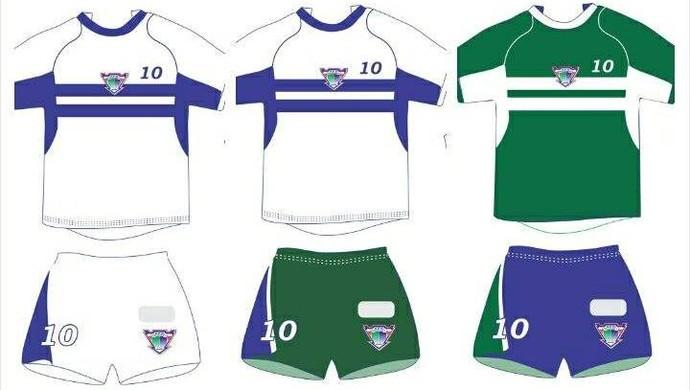 Modelos da nova camiseta do Ariquemes na temporada 2014 (Foto: Ariquemes/Divulgação)