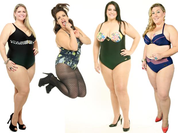 Modelos Plus Size - Vanessa Pichinin, Talita Kobal, Amáli Fernandes e Samantha Rebell (Foto: Max Oliveira/LT3 Studios Divulgação)