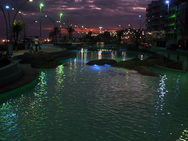 Obra faz parte da nova orla da cidade; total de gastos foi de R$12 milhões (Foto: Walmor Freitas/W2Imagens)