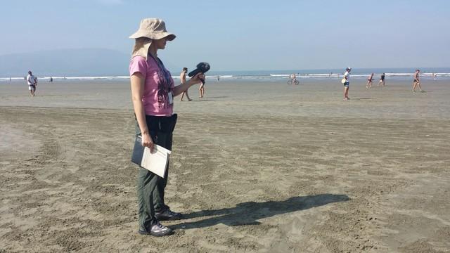 Renata Lins durante a gravação do curta-metragem (Foto: Arquivo Pessoal)