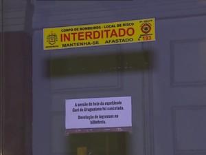 show cancelado Theatro São Pedro (Foto: Reprodução/RBS TV)