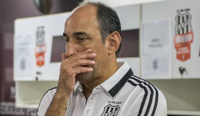 Vinícius Eutrópio, técnico da Ponte Preta (Foto: Fabio Leoni/ PontePress)