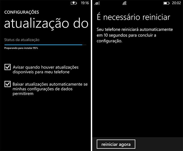 Lumia Denim será instalado conforme usuário fornecer as confirmações necessárias (Foto: Divulgação/Windows Phone Store)