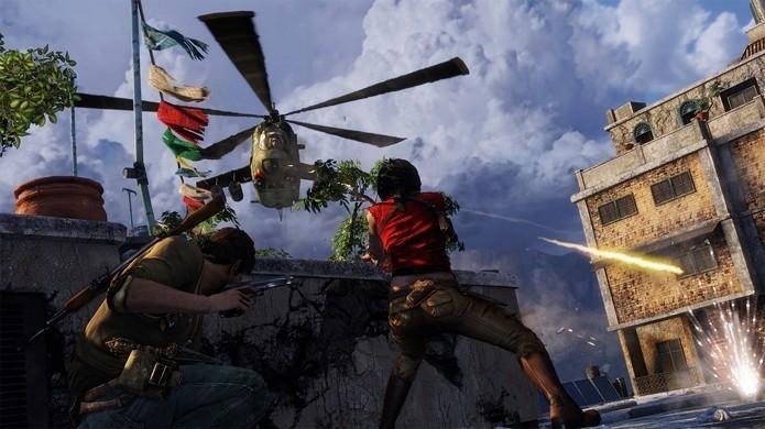 Uncharted 2: Among Thieves tem sua versão remasterizada comparada com a original (Foto: Divulgação)