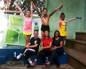 Isabelle Nantes e Mariana Camille vão representar MS na ginástica artística (Foto: Divulgação/Funesp)
