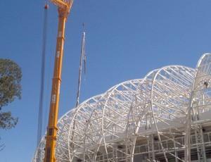 Membrana Beira-Rio estrutura metálica (Foto: Divulgação/Grupo Gigante Para Sempre)