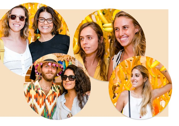 Da esquerda para a direita: Melina Dalboni e Jacqueline De Biase, Raphael Tepedino e Julia Gastin, Rosana Rodini e Ba rosalinsky e Fernanda Di Biase  (Foto: Bruno Ryfer)
