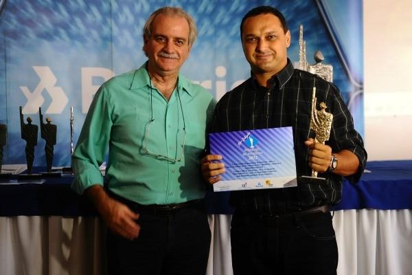 Fernando Becker venceu na categoria reportagem esportiva (Foto: Emilio Pedroso)