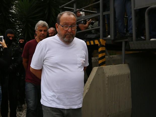 O engenheiro Zwi Skornicki é um dos presos da 23ª fase da Operação Lava Jato (Foto: Giuliano Gomes/ Agência PR PRESS)