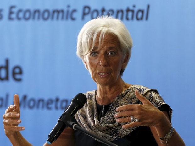 Christine Lagarde fala na Universidade da Indonésia em Jacarta, nesta terça-feira (Foto: Reuters)